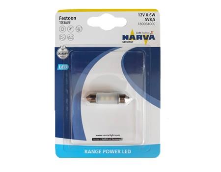 Auto sijalice NARVA 12V LED 0.6W SV8.5 (10,5mm X 38mm) sofitne Svetlo 6000 K 18006