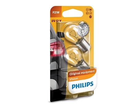 Auto sijalice PHILIPS 12V 21W BA15s – PREMIUM 30%+