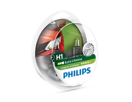 Auto sijalice PHILIPS H1 12V 55W P14.5s – ECO VISION – Long life –