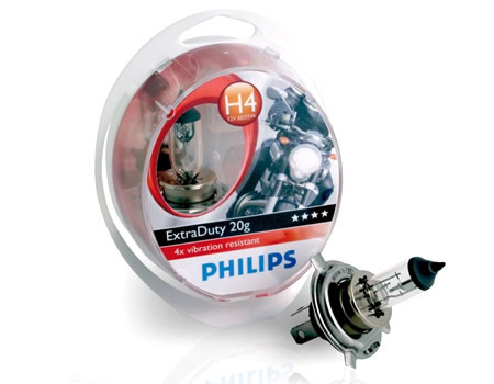 Auto sijalice PHILIPS H4 12V 60/55W P43t – EXTRA DUTY MOTO