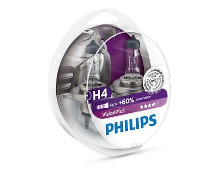 Auto sijalice PHILIPS H4 12V 60/55W P43t – VISION PLUS 60%+