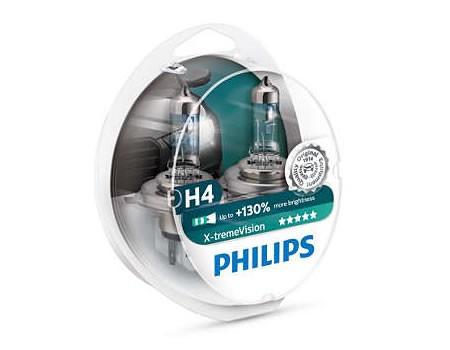 Auto sijalice PHILIPS H4 12V 60/55W P43t – X-TREME VISION 130% više svetla