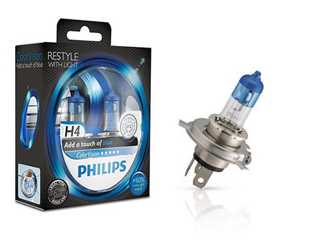 Auto sijalice Philips H4 12V 60/55W P43t – COLOR VISION BLUE