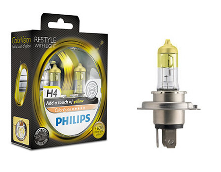 Auto sijalice Philips H4 12V 60/55W P43t – COLOR VISION YELLOW