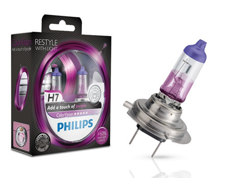 Auto sijalice Philips H7 12V 55W PX26d – COLOR VISION PURPLE