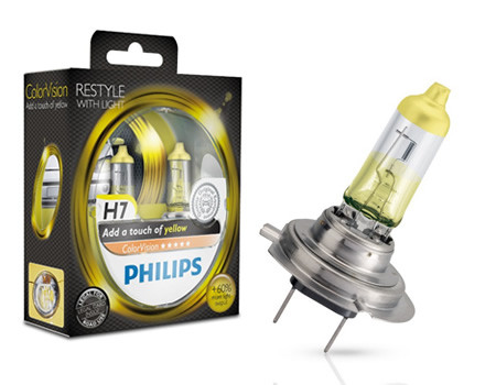 Auto sijalice Philips H7 12V 55W PX26d – COLOR VISION YELLOW
