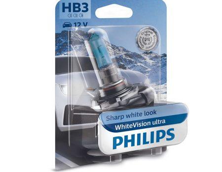 AUTO SIJALICE PHILIPS HB3 12V 60W P20D – WHITEVISION ULTRA – 3700K I 60% VIŠE SVETLA – 9005WVUB1
