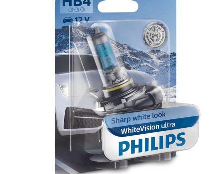 AUTO SIJALICE PHILIPS HB4 12V 51W P22D – WHITEVISION ULTRA – 3700K I 60% VIŠE SVETLA – 9006WVUB1