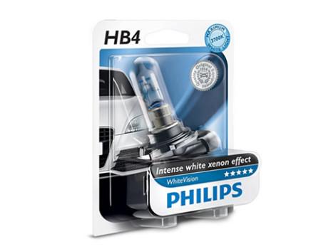 Auto sijalice PHILIPS HB4 12V 55W P22d – WHITE VISION Xenon efekat od 3700 K