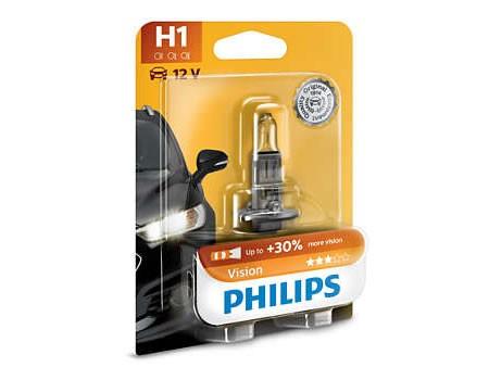 Auto sijalice PHILIPS H1 12V 55W P14.5s – PREMIUM 30%+