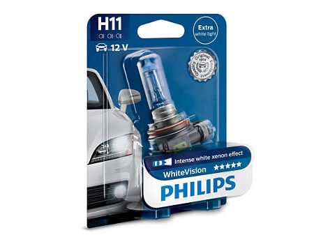 Auto sijalice PHILIPS H11 12V 55W PGJ19-2 – WhiteVision od 3700K – Xenon efekat