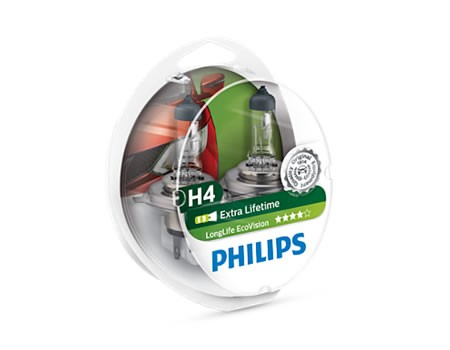 Auto sijalice PHILIPS H4 12V 60/55W P43t – ECO VISION – Long life