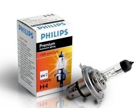 Auto sijalice PHILIPS H4 12V 60/55W P43t – PREMIUM 30%+