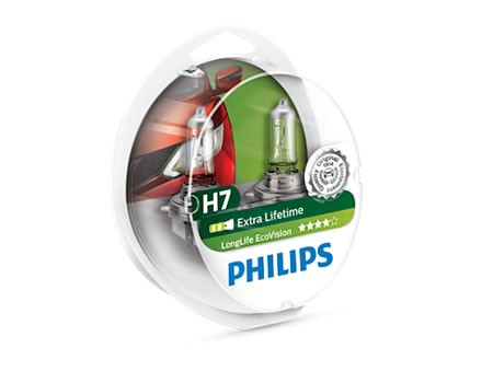 Auto sijalice PHILIPS H7 12V 55W PX26d – ECO VISION – Long life