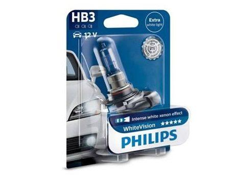 Auto sijalice PHILIPS HB3 12V 60W P20d – WHITE VISION  Xenon efekat od 3700 K
