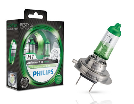 Auto sijalice Philips H7 12V 55W PX26d – COLOR VISION GREEN