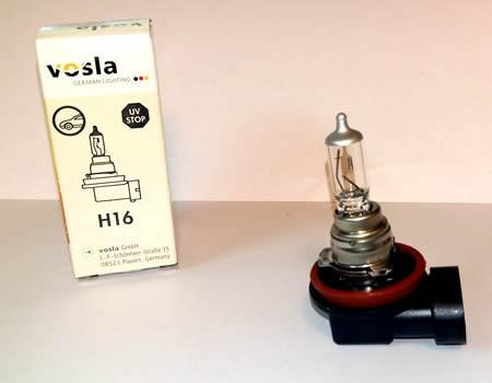 Auto sijalice VOSLA halogene 12V H16 19W PGJ19-3 (28071)