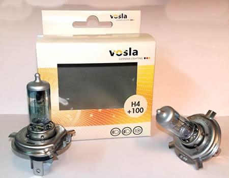 Auto sijalice VOSLA halogene 12V H4 60/55W P43t-38 – set sijalica od 2 komada – +100 % više svetla (27481S2)
