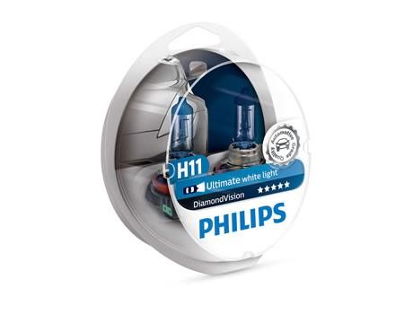 Auto sijalice PHILIPS H11 12V 55W PGJ19-2 – Diamond vision (12362DVS2)