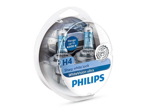 Auto sijalice PHILIPS H4 12V 60/55W P43t – WHITE VISION ULTRA 4200K 12342WVUSM