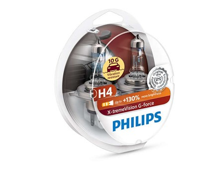 Auto sijalice PHILIPS H4 12V 60/55W P43t – X-TREME VISION G-force 12342XVGS2