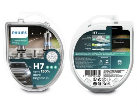 Auto sijalice PHILIPS H7 12V 55W PX26d – X-tremeVision Pro150 – 12972XVPS2